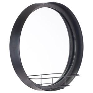Zuo Mirrors Round Mirror Shelf Small