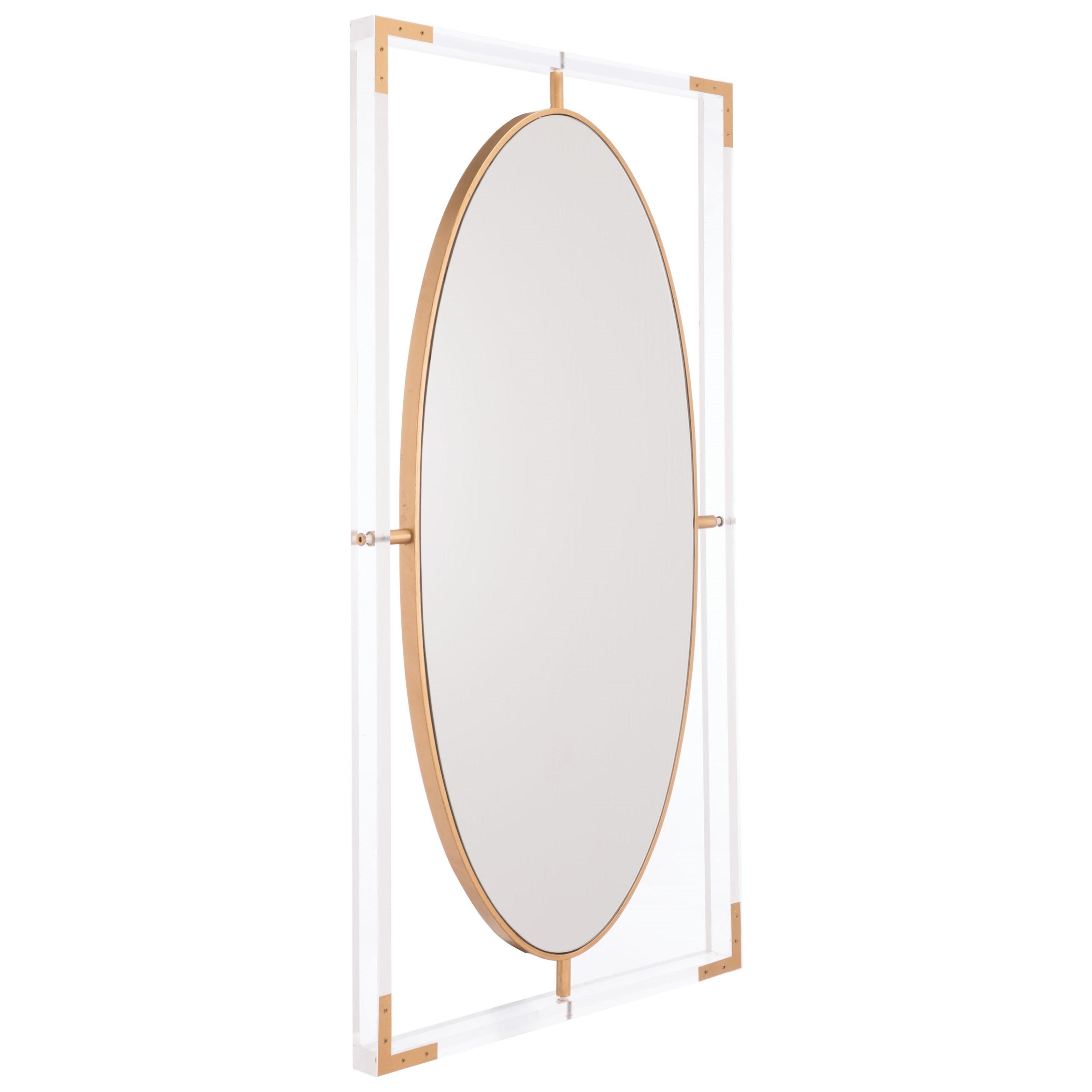 Zuo Mirrors Lucite Rectangular Mirror - Item Number: A11055