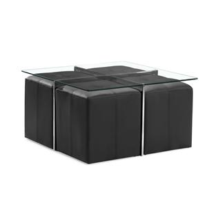 Zuo Occasional Collection Botero Coffee Table & 4 Nesting Stools