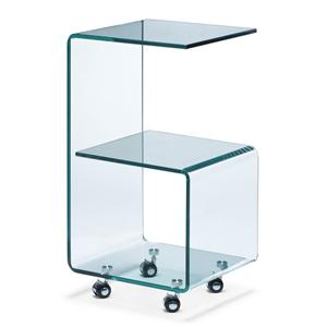 Zuo Occasional Collection Trek Glass Side Table
