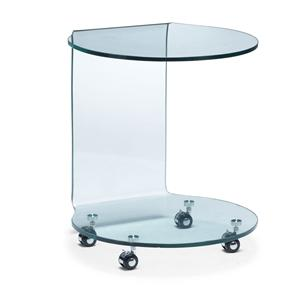 Zuo Occasional Collection Mission Glass Side Table