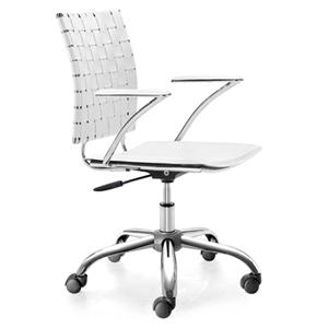 Criss Cross Leatherette Office Chair