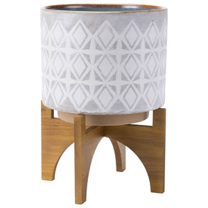 Zuo Planters Planter with Wooden Base Large