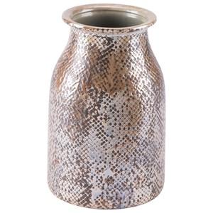 Zuo Vases Snake Skin Short Vase