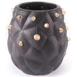 Zuo Vases Black Cactus Vase Small