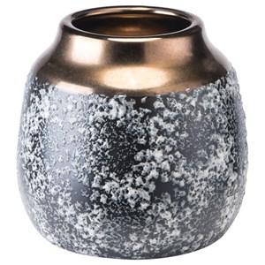 Zuo Vases Stoneware Metal Vase Small