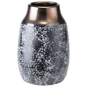 Zuo Vases Stoneware Metal Vase Large