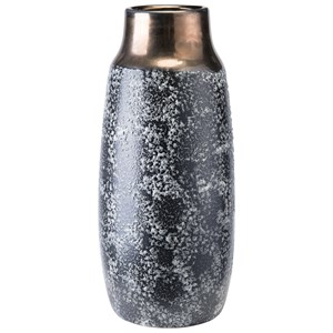 Zuo Vases Stoneware Metal Vase Medium