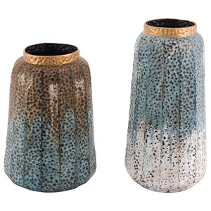 Zuo Vases Set of 2 Antique Vases