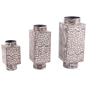 Zuo Vases Set of 3 Metal Vases