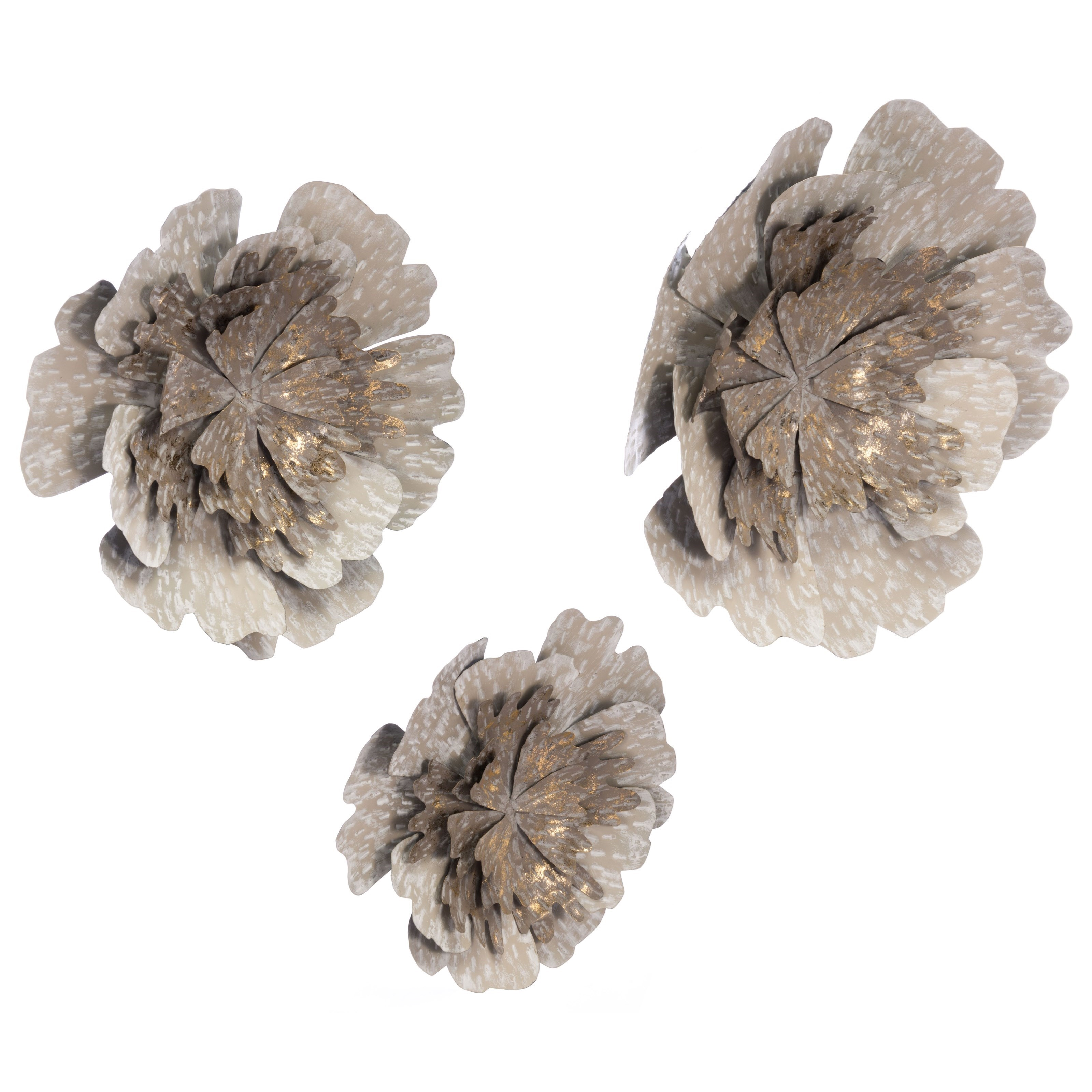 Zuo Wall Art Set of 3 Antique Flowers - Item Number: A10680