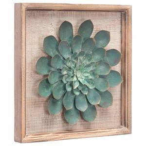Green Star Succulent Wall Decor