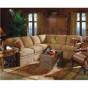 Fairfield 3720 Sectional Sofa with Sleeper