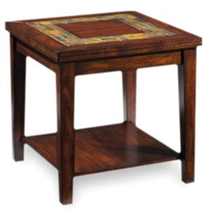 Transitional End Table with Slate Inlay