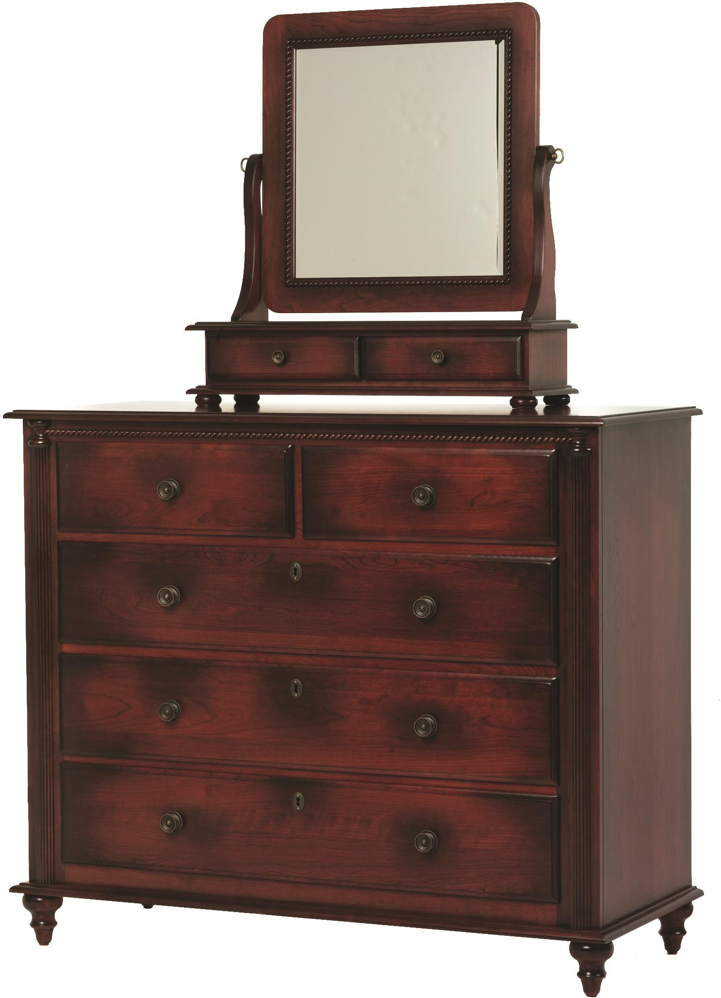 Fur Elise Dressing Chest and Mirror by Millcraft at Saugerties Furniture Mart