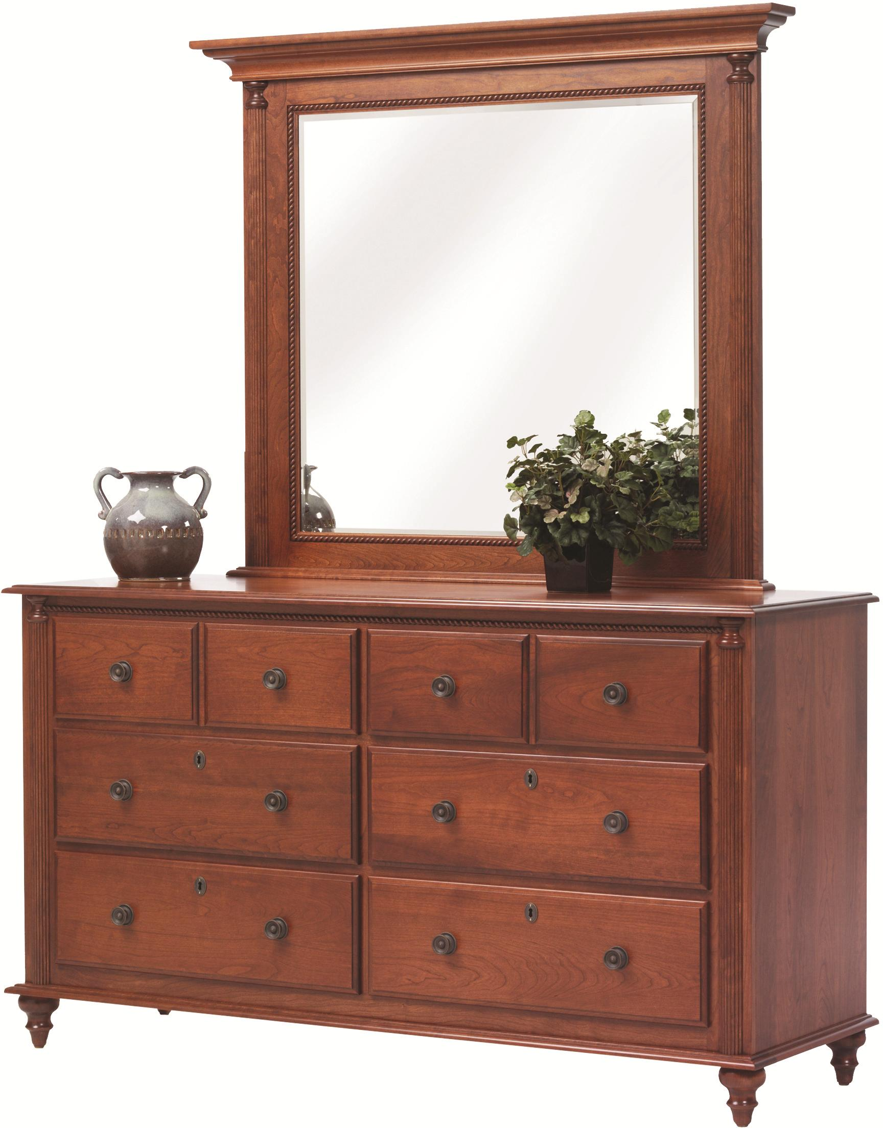 Fur Elise Dresser and Mirror by Millcraft at Saugerties Furniture Mart