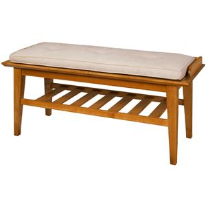 Contemporary Transitional Bench with Bench Pad