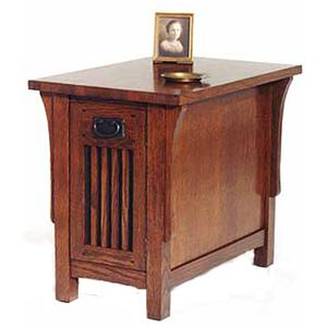 AA Laun Arts and Crafts  Chairside Table with Door