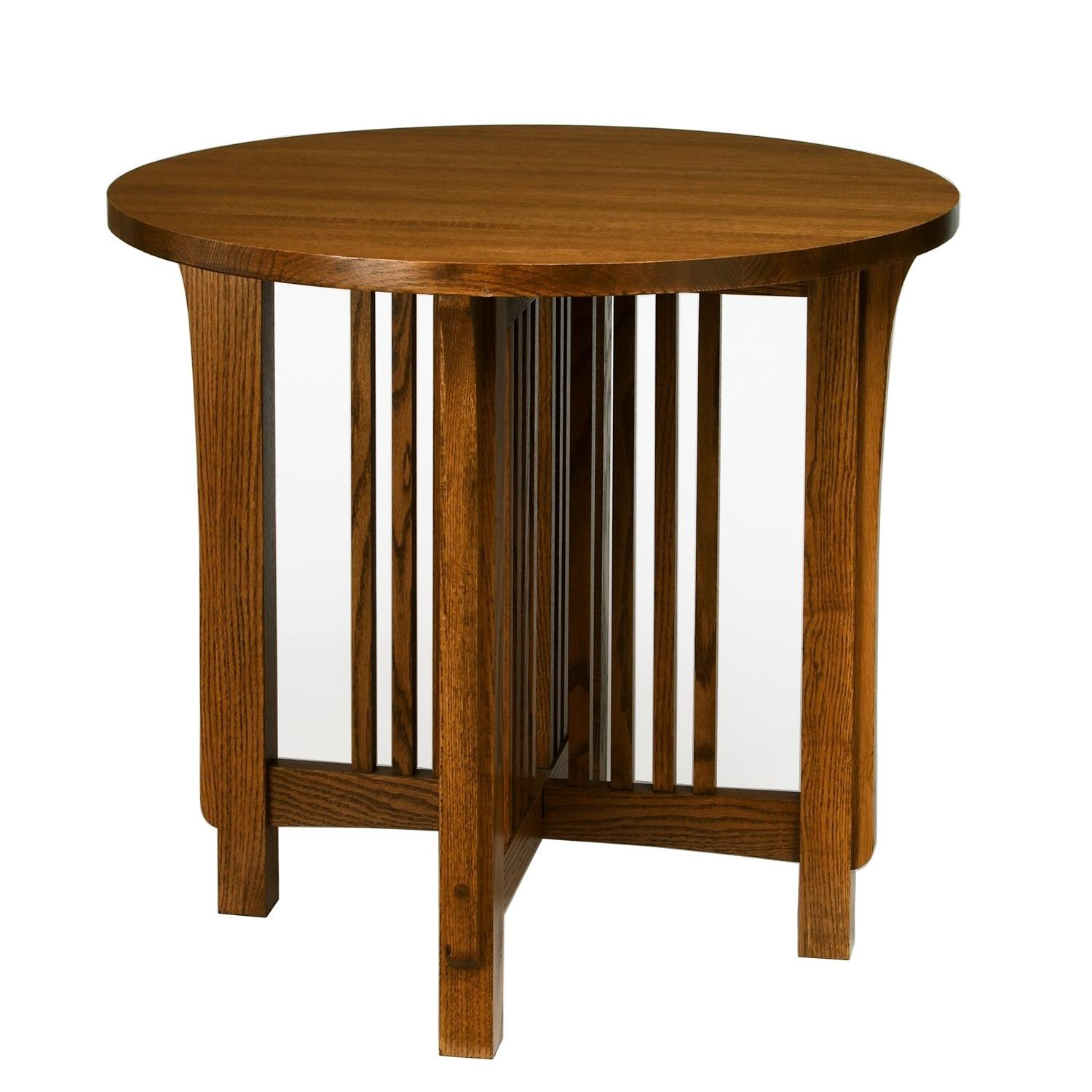 Arts and Crafts  Round Lamp Table by AA Laun at Mueller Furniture