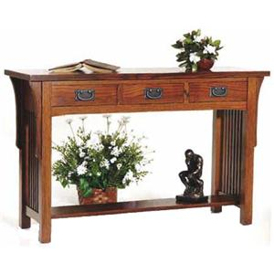 AA Laun Arts and Crafts  Sofa Table with 3 Drawers