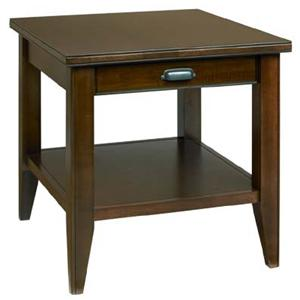End Table with Drawer and Shelf