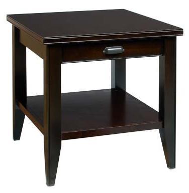 Metropolitan  End Table with Drawer and Shelf by AA Laun at Mueller Furniture