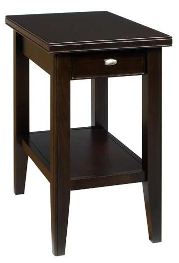 Tribeca  Chairside Table with Drawer and Shelf by AA Laun at Mueller Furniture