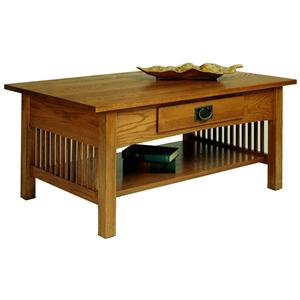 Cocktail Table with Drawer and Shelf