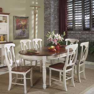 Buttermilk Oval Leg Table and Chairs