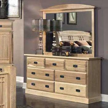 Amish Highlands Dresser with Landscape Mirror by A-A at Walker's Furniture