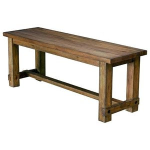 Solid Wood Dining Bench with Trestle Styling