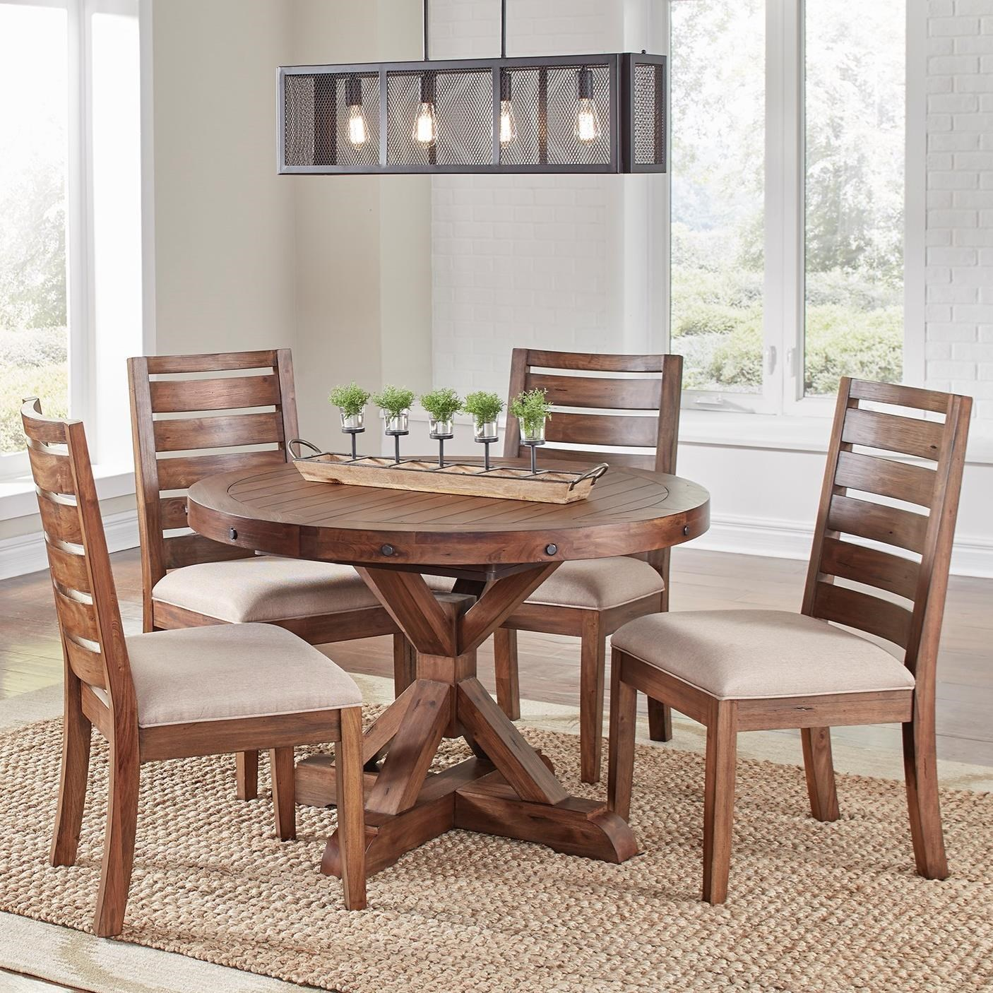 Anacortes 5 Piece Dining Set by AAmerica at Wayside Furniture