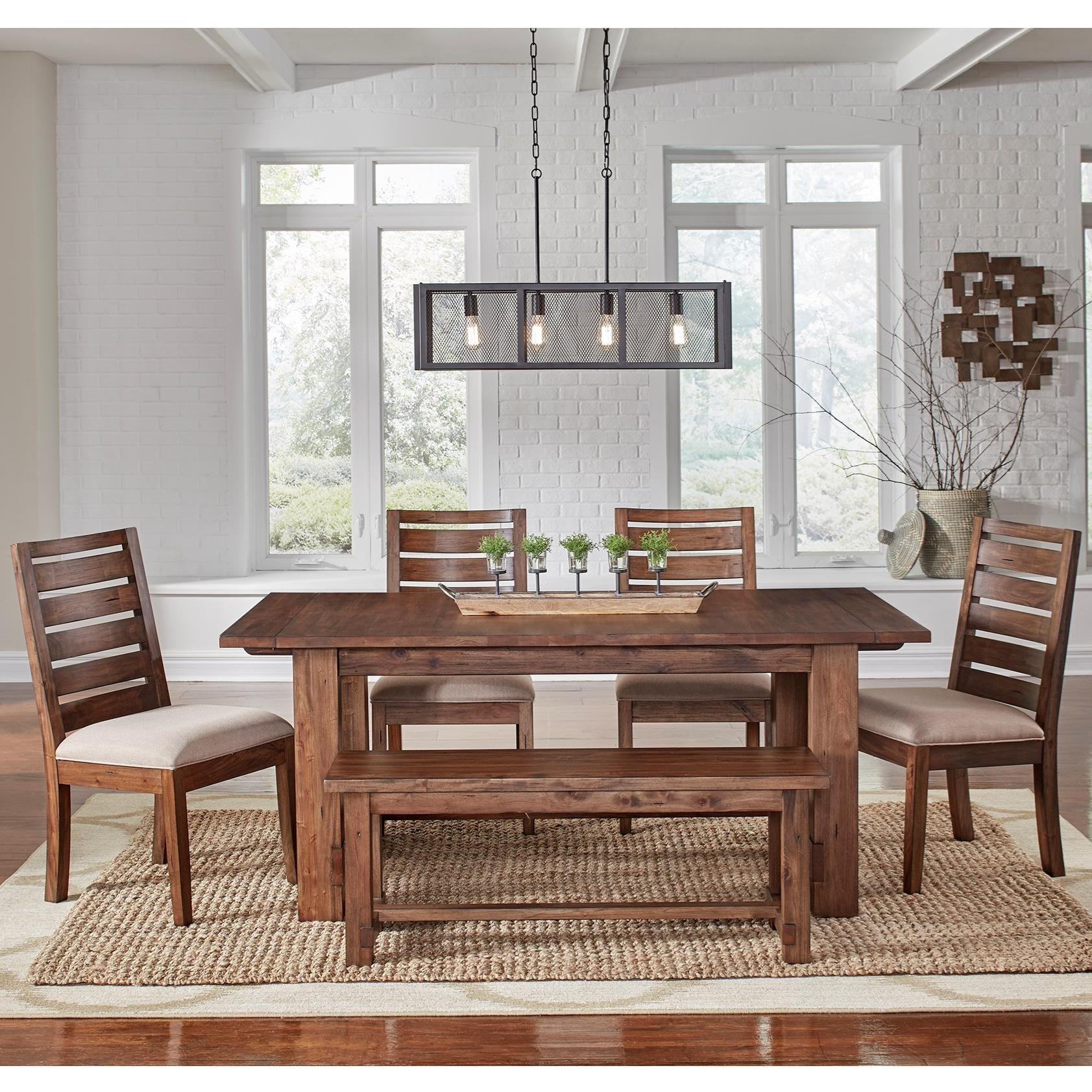 Anacortes 6 Piece Dining Set by AAmerica at Furniture and ApplianceMart