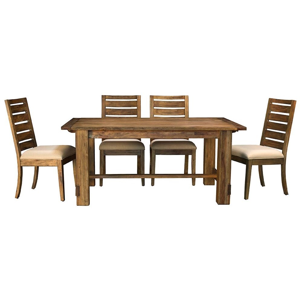 Anacortes 5 Piece Dining Set by AAmerica at Mueller Furniture
