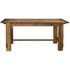 Rectangle Trestle Dining Table with Leaf