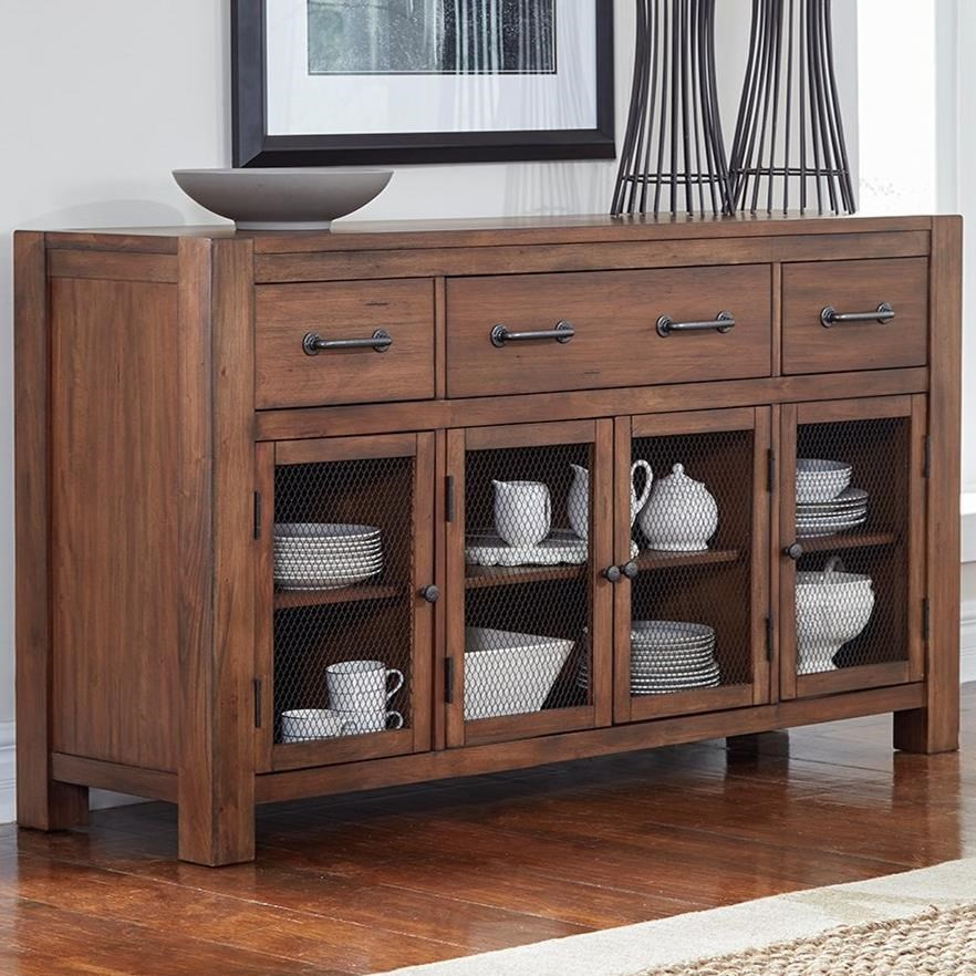 Anacortes Four Door Server by A-A at Walker's Furniture