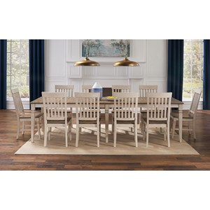 11-Piece Dining Set with Self Storing Leaves