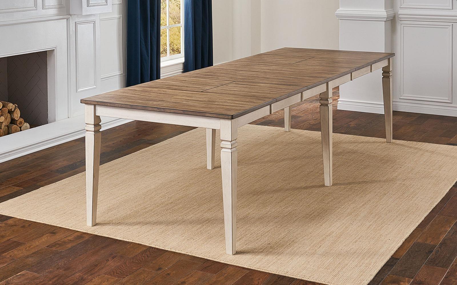 Beacon Rectangular Leg Table by AAmerica at Johnny Janosik