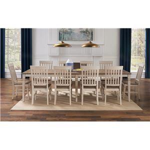 Rectangular Leg Table and Slatback Chairs