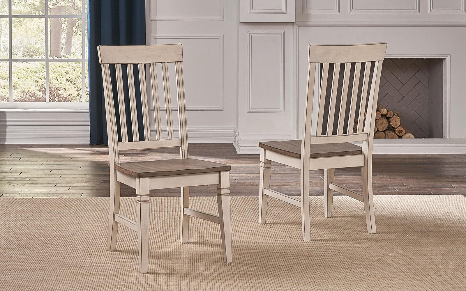 Beacon Slatback Side Chairs by AAmerica at Johnny Janosik