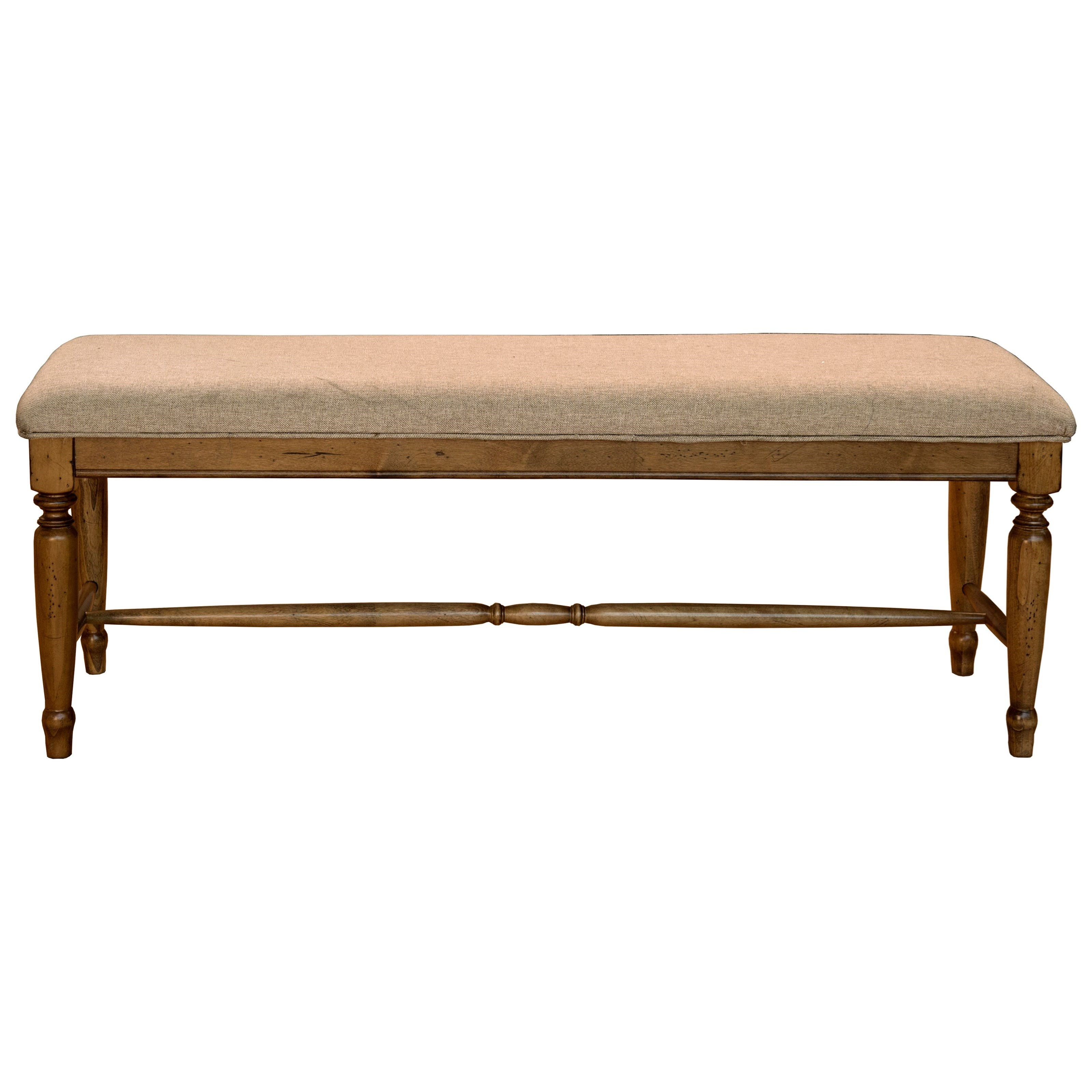Bennett Upholstered Bench by A-A at Walker's Furniture