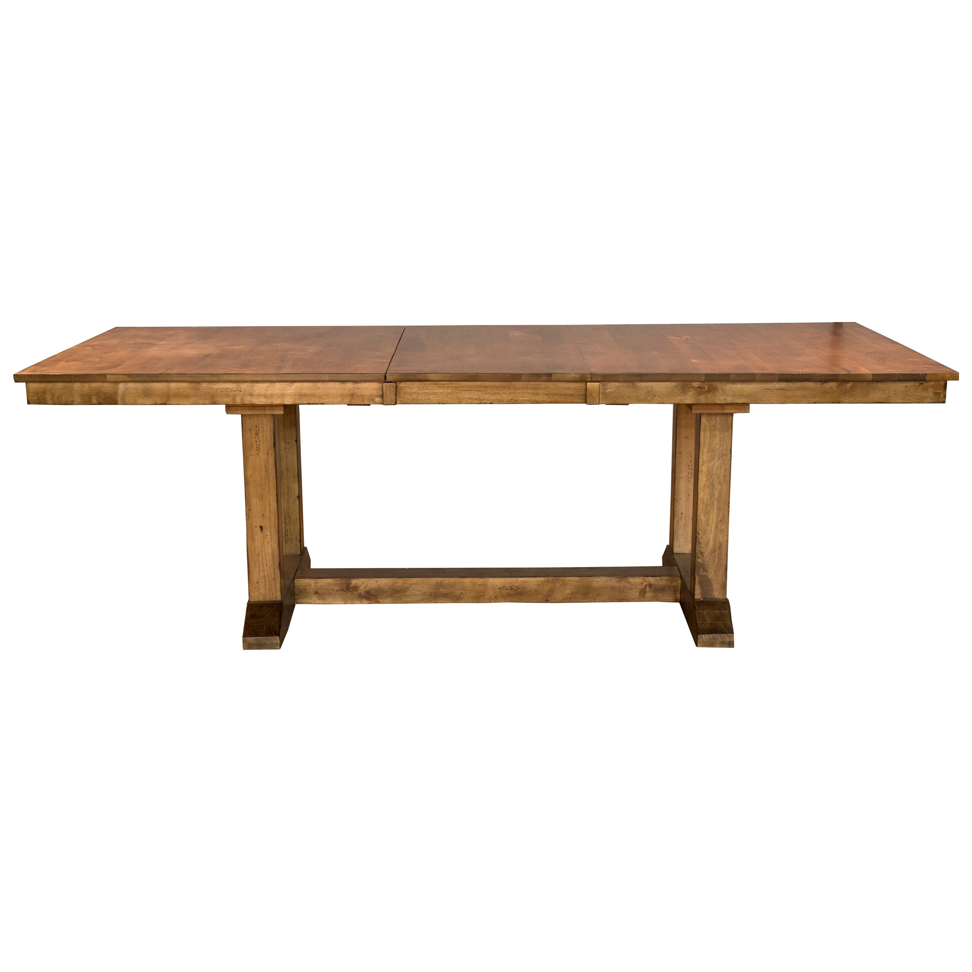Bennett Trestle Dining Table by AAmerica at Furniture Superstore - Rochester, MN