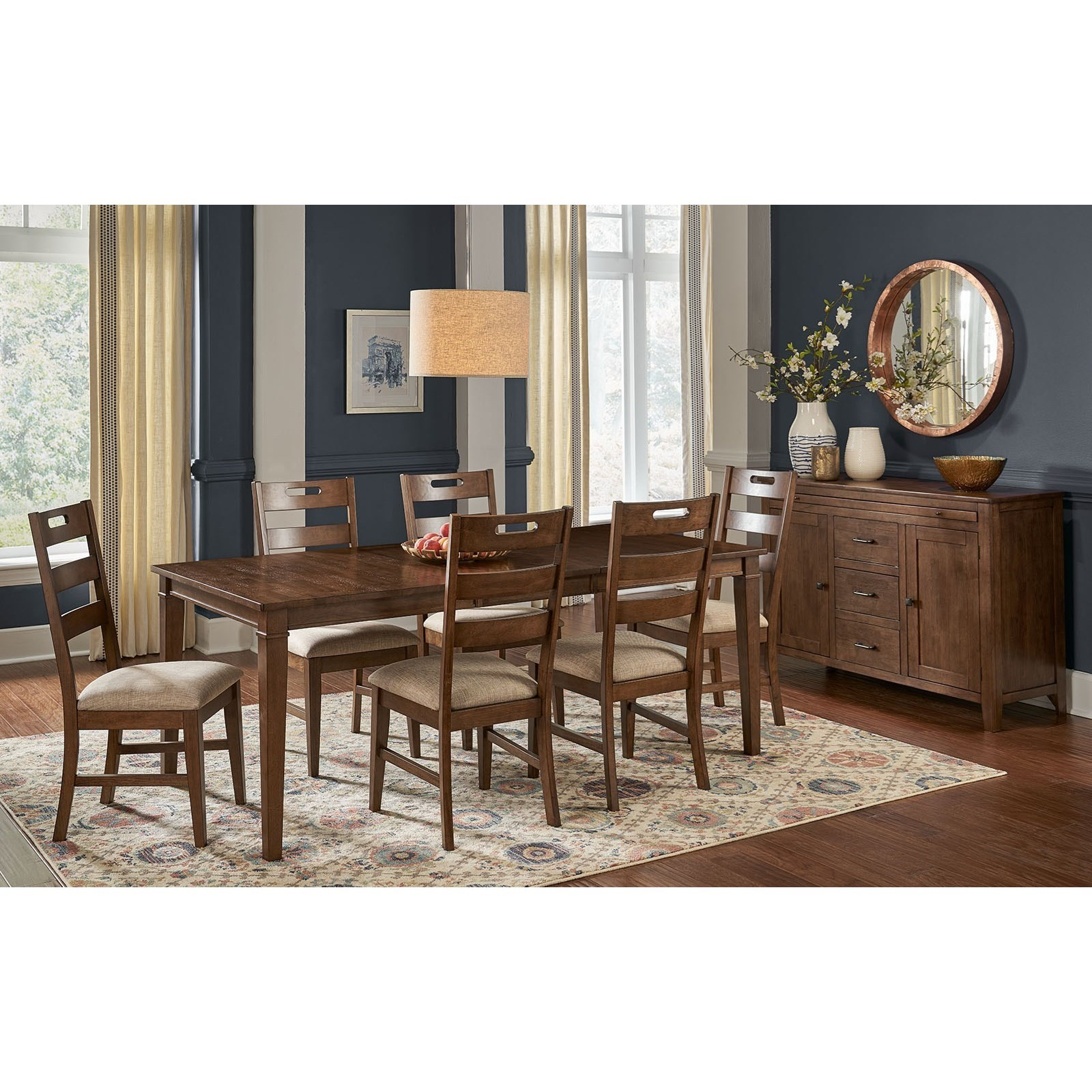 Blue Mountain 7-Piece Table and Chair Set by AAmerica at Zak's Home