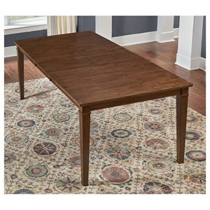 "Transitional Rectangular Dining Table with 18"" Butterfly Leaf"