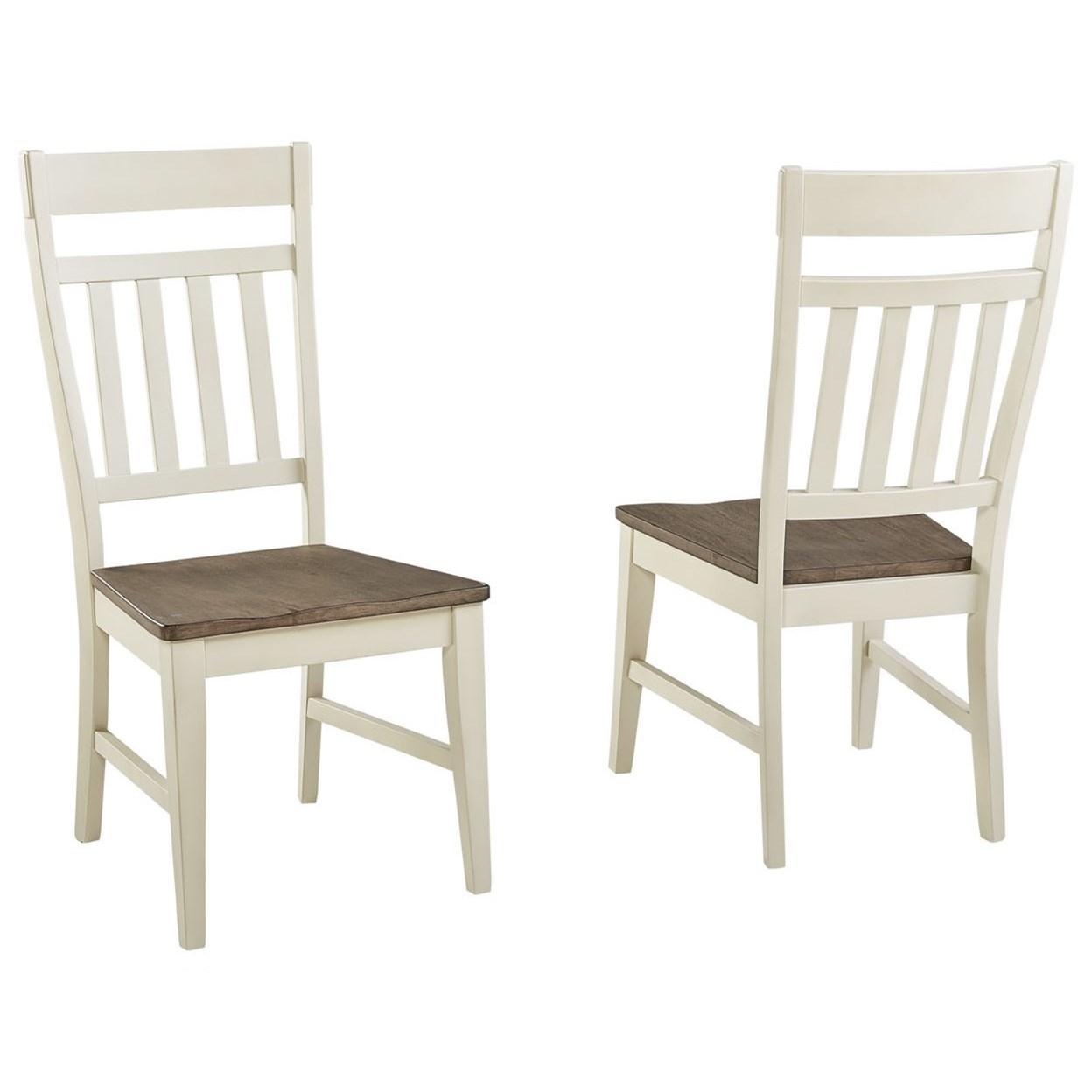 Bremerton Slatback Upholstered Side Chair by A-A at Walker's Furniture