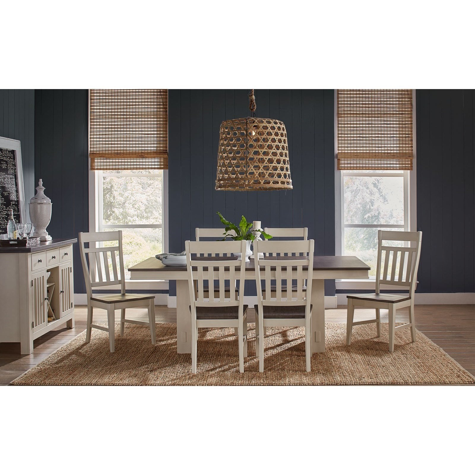 Bremerton 7-Piece Table and Chair Set by AAmerica at Home Furnishings Direct