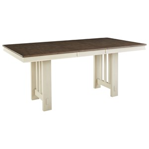 "Solid Wood Transitional Gathering Table with 18"" Butterfly Leaf"