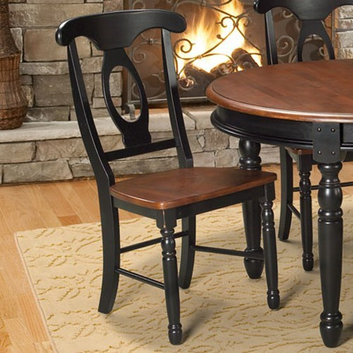 British Isles Napoleon Side Chair by AAmerica at Dinette Depot