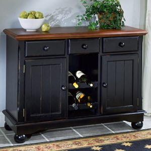 Dining Storage Server Buffet with Wine Glass and Bottle Storage
