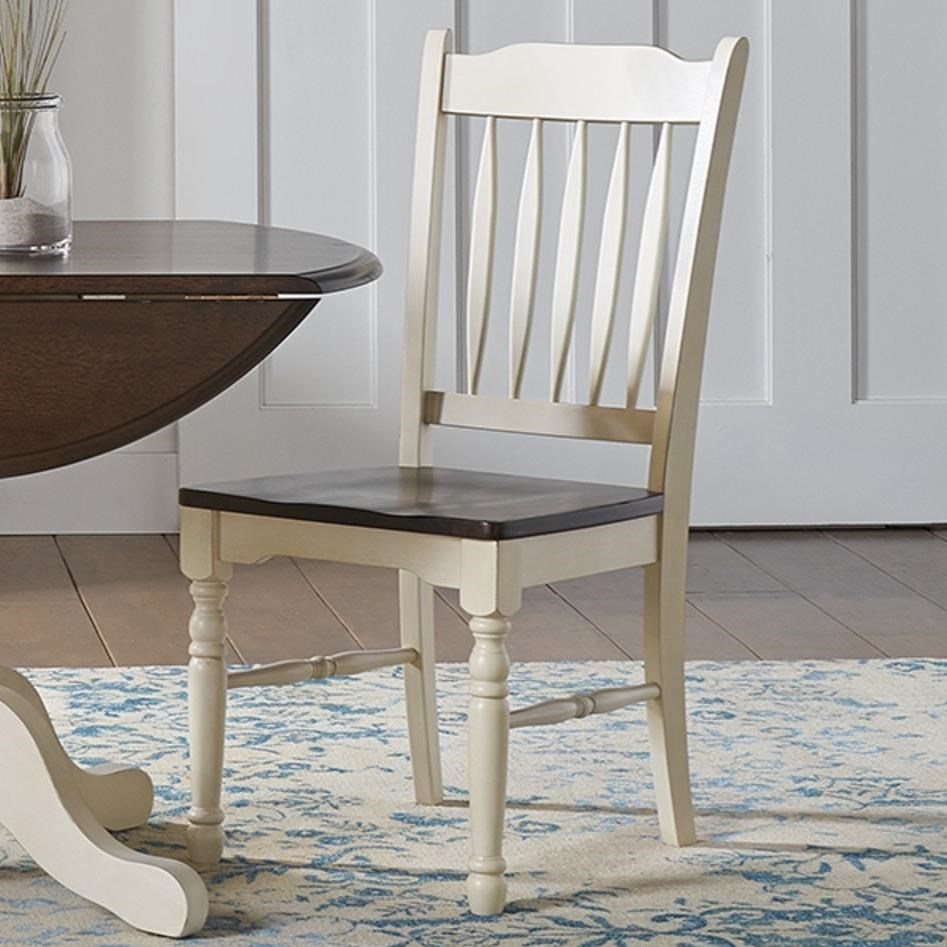British Isles - CO Slatback Side Chair by A-A at Walker's Furniture